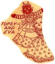 Vintage Doll Pattern 97 Topsy Eva doll & Embroidery transfer Floral Letters Duck