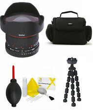 8MM VIVITAR F/3.5 FISHEYE LENS + CASE + TRIPOD FOR CANON EOS REBEL T1 T2 T3 T3I