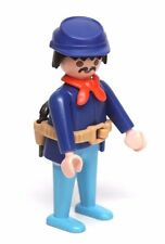 Playmobil Figure Western Civil War Union Yankee Soldier Red Necktie Hat Gun 3773
