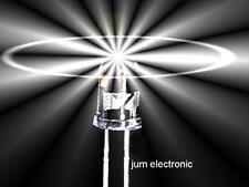 50 Stück Leuchtdioden  /  Led /  5mm /  WEIß 5000mcd /  Abstrahlwinkel 40° / NEU