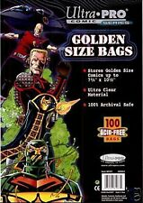(200) Ultra Pro GOLDEN AGE SIZE Storage Bags Brand New Factory Sealed