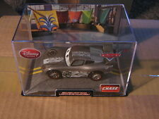 DISNEY PIXAR CARS 2 SILVER HOT ROD MCQUEEN CHASE  W/ CASE  DISNEY STORE