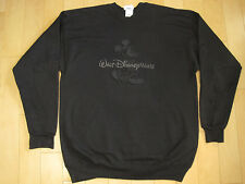 INCREDIBLE!! 90s vintage EMBOSSED BLACK MICKEY MOUSE SWEAT SHIRT disney LARGE