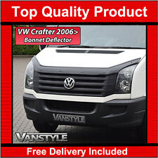 VW CRAFTER 06-12 & 12+ BONNET BUG WIND STONE DEFLECTOR PROTECTOR NOT BONNET BRA
