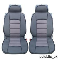 PAIR OF GREY BLACK UNIVERSAL PREMIUM CAR SEAT COVER CUSHION