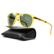 Persol 714 Folding Sunglasses 204/31 Transparent Honey, Crystal Lens PO0714 52mm