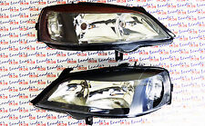 Vauxhall ASTRA HEADLIGHTS - PAIR OF COMPLETE HEAD LIGHTS / LAMPS (Black) - NEW