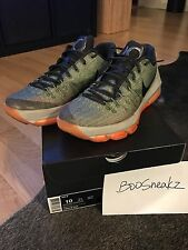 Nike KD 8 LNR GREY/SQ-ALLGTR BRGHT CTRS SIZE 10  Green Olive Orange Ex Condition