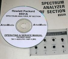 HP  Hewlett Packard 8551A Spectrum Analyzer Operating & Service Manual