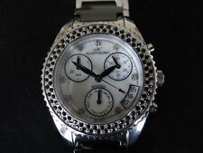 OLD STOCK WOMEN KLAUS KOBEC WICKED CHRONOGRAPH CERAMIC BRACELET QUARTZ WATCH