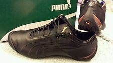 PUMA FUTURE CAT MI BLACK 9.5M LEATHER UPPER ROUND TOE .PUMA LOGO ON SIDE LA