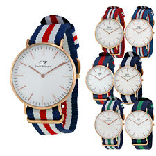 Daniel Wellington Classic Eggshell White Dial NATO Strap Mens Watch
