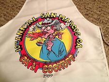 1989 10TH ANNUAL SAN MARCOS CALIFORNIA CHILI COOKOFF APRON BETANCOURT ART