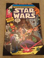 New Star Wars Vintage Wooden Wall/Wall Plaque Art #7 HARD TO FIND Marvel