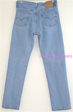 Levis Womens 501 Jeans Vintage Button Fly Cotton Blue Iconic High Waisted 30