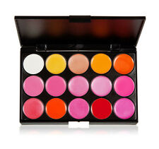 15 Color Sexy Cosmetic Bright Glitter Lipstick Palette Lips Tint Women Makeup