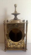 Antique Brass Engraved Clock Case
