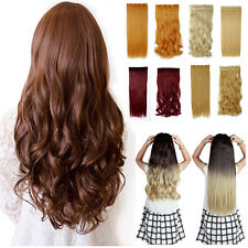 Free Ship Premium 145G SALON FINEST CLIP IN HAIR EXTENTIONS  Real AS  Human tb