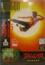 NEW WITH CRUSHED BOX DRAGON THE BRUCE LEE STORY GAME FOR THE ATARI JAGUAR SYSTEM