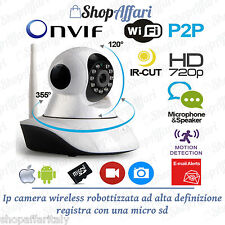 IP CAMERA TELECAMERA WIRELESS WIFI IR INFRAROSSI IP CAM PER ESTERNI OUTDOOR