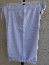 Women's Hanes Live Love Color French Terry Bermuda Cuffed Shorts XXL/ 2X Gray