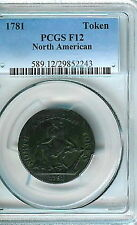 1781 North American Token  PCGS F12