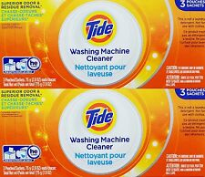 6 POUCHES Tide WASHING MACHINE CLEANER Odor & Residue Removal