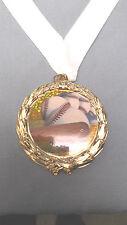 BASEBALL full color insert plastic medal white neck drape trophy