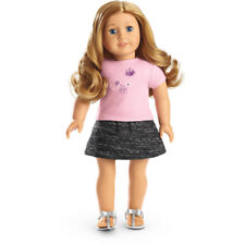 """American Girl TM PALE PINK & TWEED OUTFIT for 18"""" Dolls Grace Sandals Skirt NEW"""