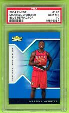 2004 Topps Finest Martell Webster #01/50 BLUE REFRACTOR RC XRC PSA 10 Gem Mint