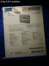 Sony Service Manual MZ NH600D Mini Disc Recorder (#5356)