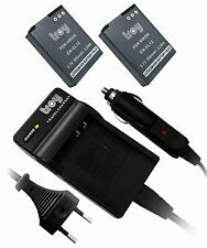 charger + 2 battery for Nikon CoolPix P300 P310 P330 P340 AW130 S9900 EN-EL12