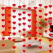 Rideau Hanging Fils à Fil Porte Fenêtre Modèle Coeur DIY Décor Pr Fête Chambre