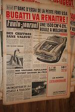 L'AUTO - JOURNAL  N° 244 DU 15 AVRIL   1960  MAGAZINE COMPLET NON PLIE