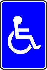 DISABLED TOILET SELF ADHESIVE VINYL BUSINESS STICKER
