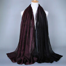 Womens Ombre Scarf Hijab Warm Wraps Shawl Sarong Ladies Soft Voile Scarves Stole