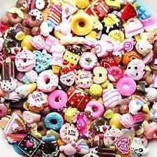 Resin Flatback LOVEKITTY TM 20 Pieces Mixed Lot Food Kawaii Cabochons Decoden