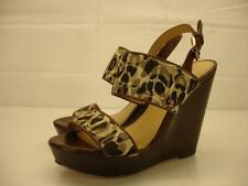 Womens 6 B M Coach Jezebel Signature Wedge Sandals Platform Slingback Shoes Pump