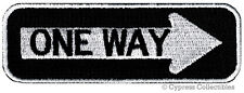 ONE-WAY SIGN EMBROIDERED IRON-ON PATCH applique SOUVENIR ROAD TRAFFIC DIRECTION