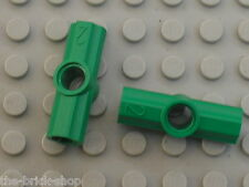 2 x LEGO TECHNIC Green Angle Connector 2 ref 32034 / Set 8479 8000 8241 ...