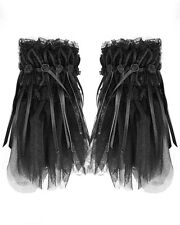 Punk Rave Pyon Black Gothic Cuffs Gloves Collar Headdress Steampunk Vintage