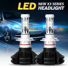 NEW X3 Turbo Auto H16/5202 LED Headlight Kit 50W 12000LM/Set  White 12-48V