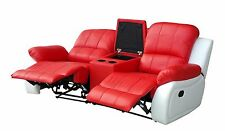 Ledersofa Kinosofa Relaxcouch Fernsehsofa Recliner rot 5129-Cup-2-8401-W sofort
