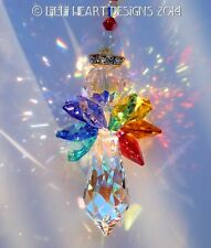m/w Swarovski Crystal Large AB CHAKRA Wings Angel Suncatcher Lilli Heart Designs