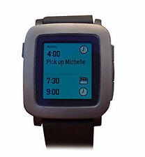 Pebble Time SmartWatch Black (501-00020) iPhone and Android