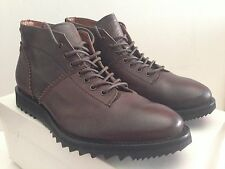 ALEXANDER MCQUEEN McQ LACE-UP MONKEY BOOT MID SHARK SIZE 12 EU 45 MADE IN ITALY