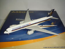 """JC Wings 400 Singapore Airlines SQ A350-900XWB """"2007s color"""" 1:400"""
