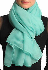 Plain Eton Green Unisex Scarf and Beach Sarong (SF001377)