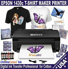 EPSON 1430 PRINTER T-SHIRT MAKER FOR PRINT 100%COTTON QUICK REFILL INK PACK
