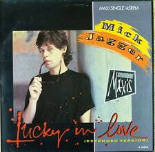 Mick Jagger - Lucky In Love ( Extended Version )  - Maxi LP - washed - # L 1726